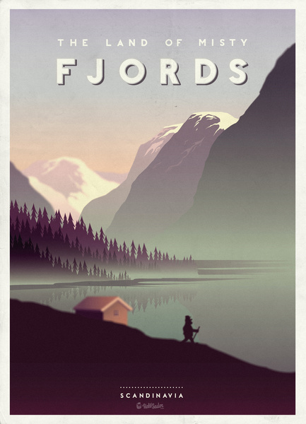 land of the fjords poster