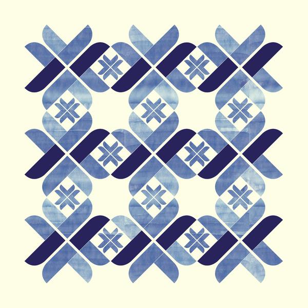scandinavian blue print