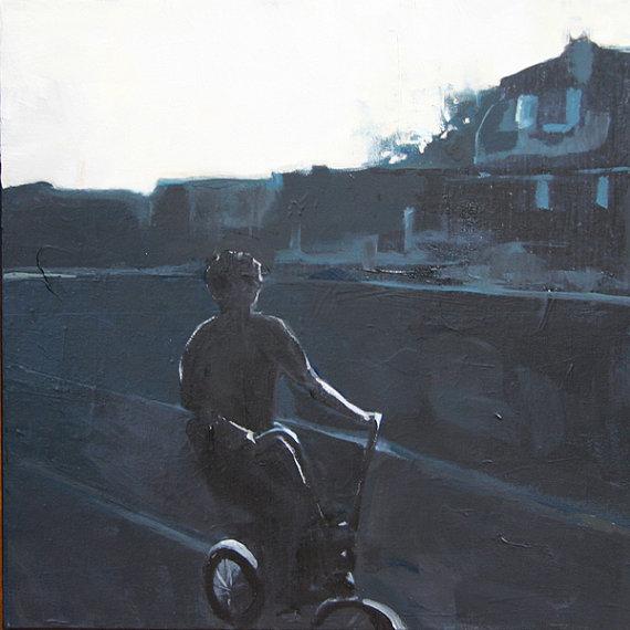 summer at dusk painting