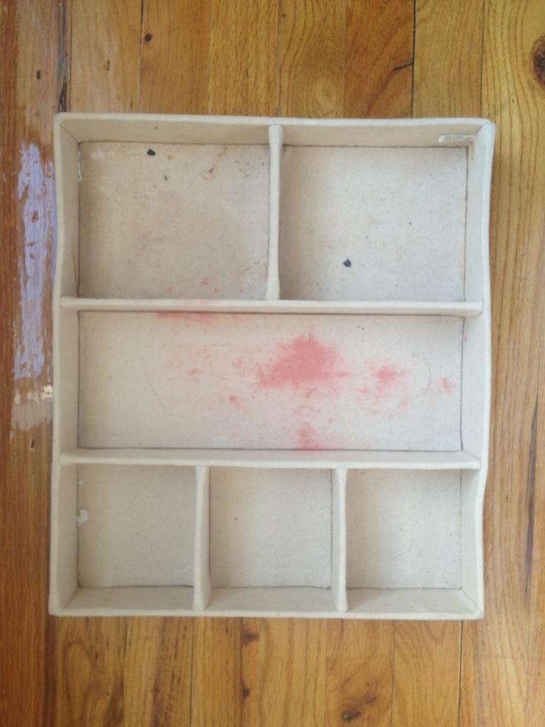 Drawer organizer empty before