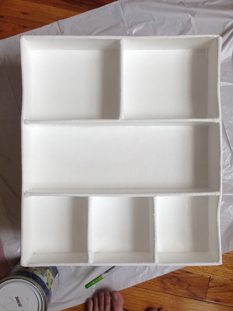 Drawer organizer white