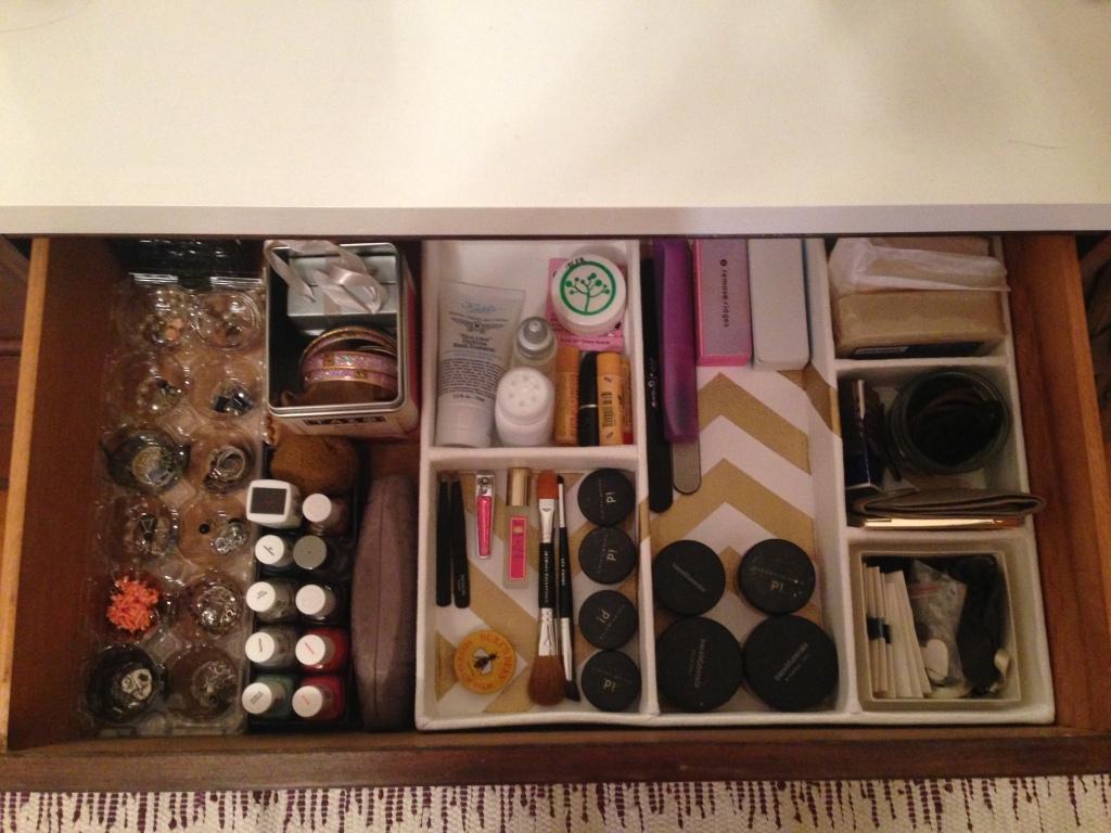 Drawer organizer after